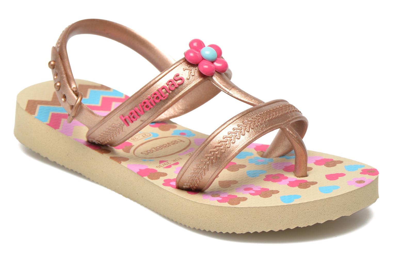 Sandales et nu-pieds Havaianas Kids Joy Spring Or et bronze vue détail/paire