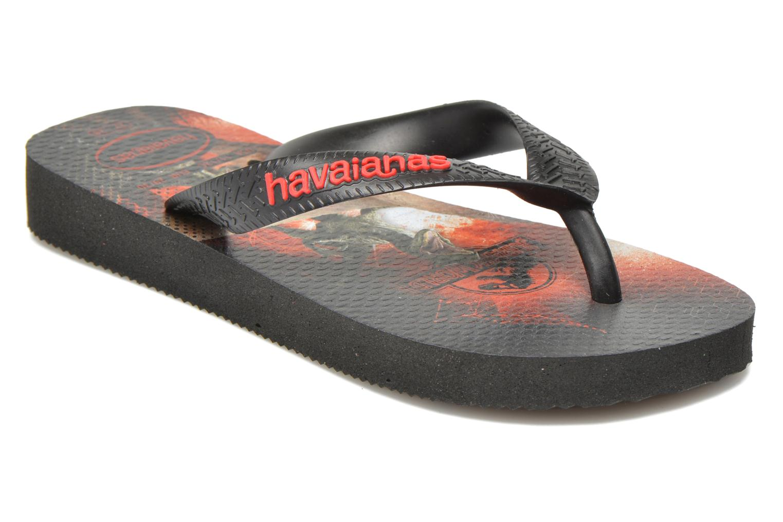 Chanclas Havaianas Kids Jurassic World Negro vista de detalle / par
