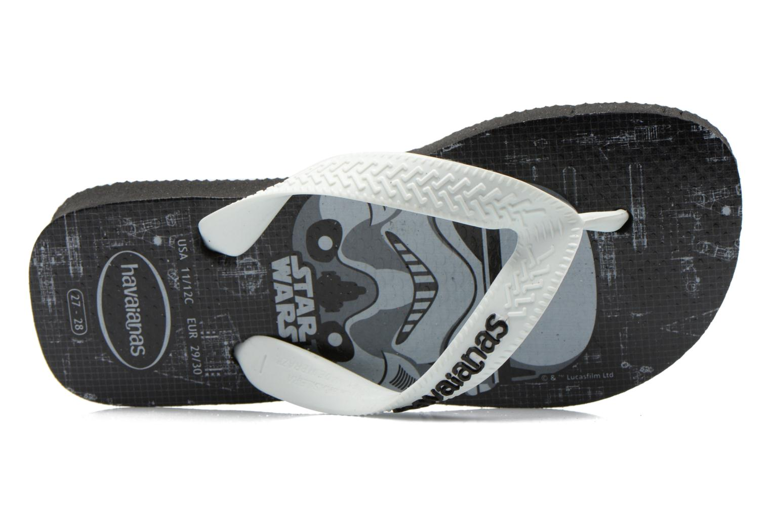 Flip flops Havaianas Kids Star Wars Black view from the left