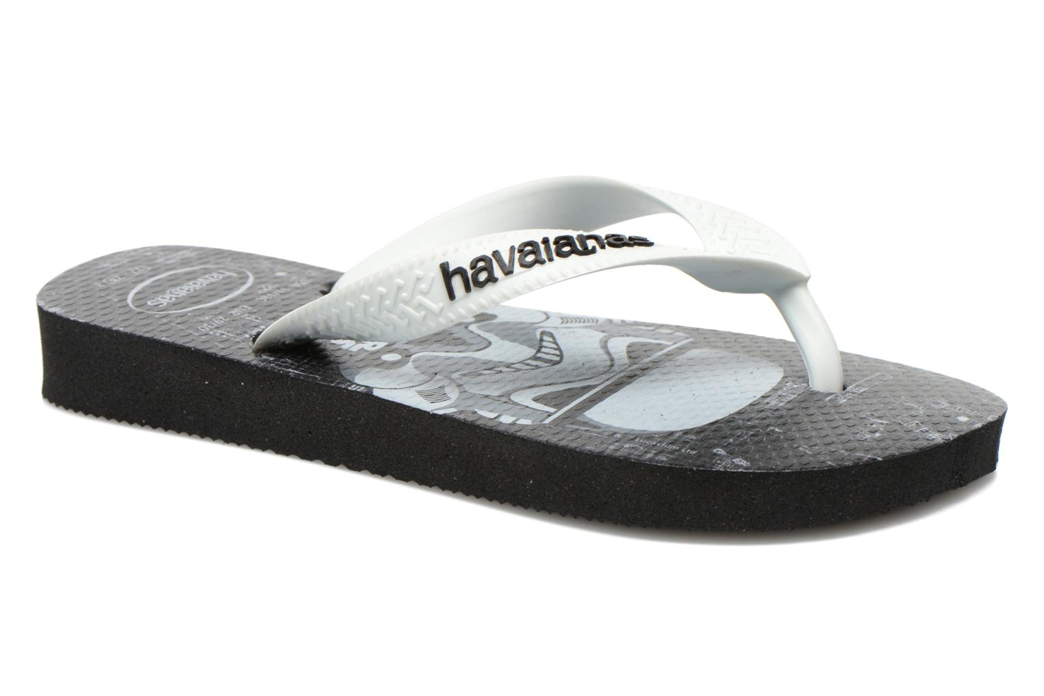 Flip flops Havaianas Kids Star Wars Black detailed view/ Pair view