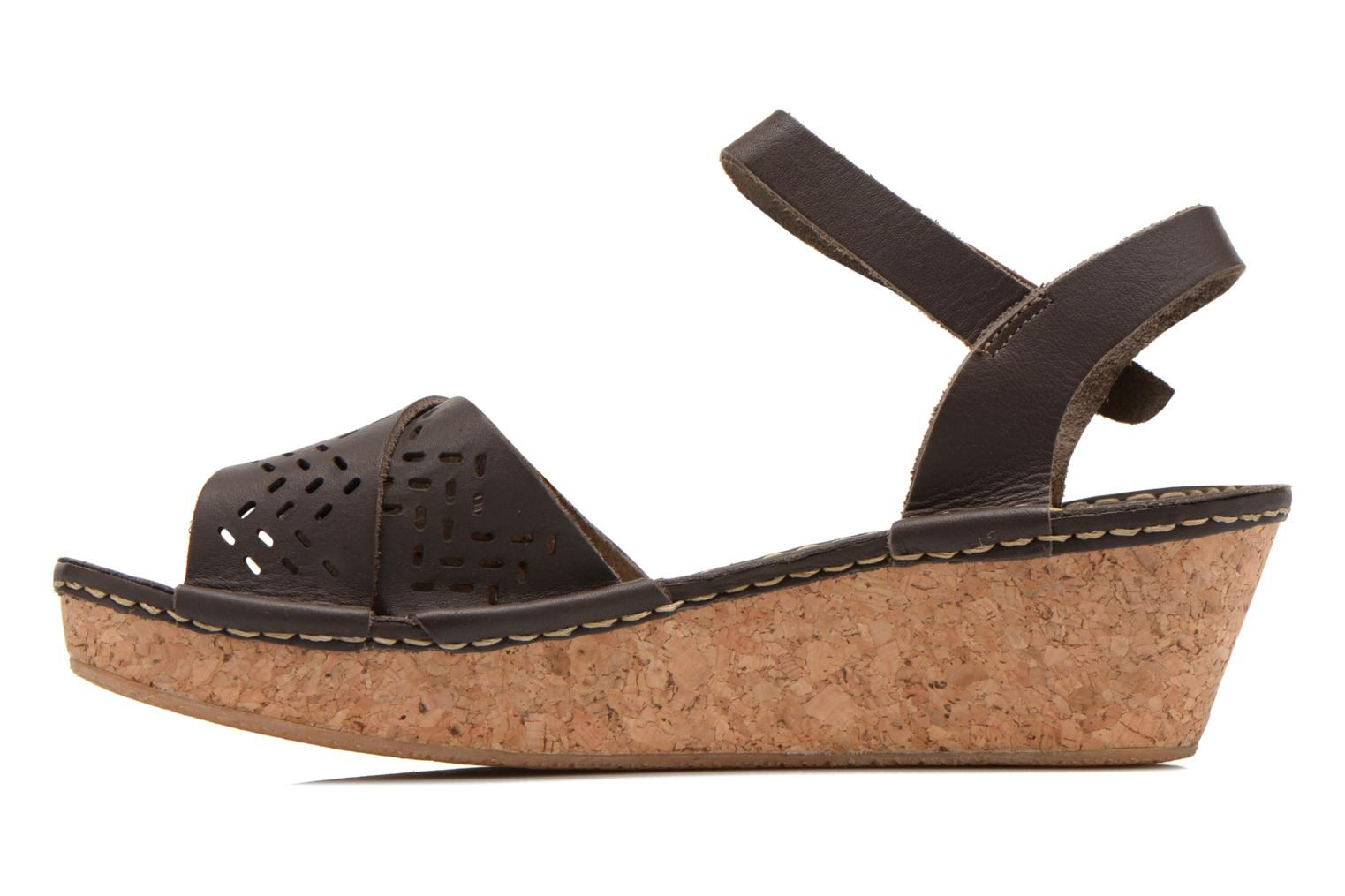 Sandals TBS Alyson Brown front view