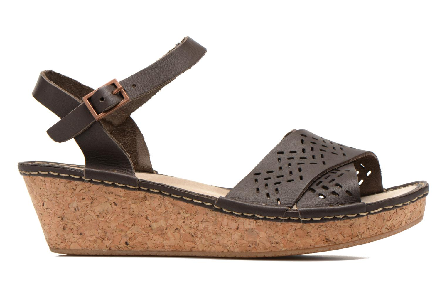 Sandals TBS Alyson Brown back view