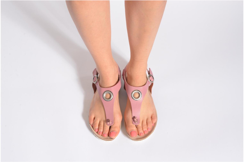 Sandalen TBS Inayah rosa ansicht von unten / tasche getragen