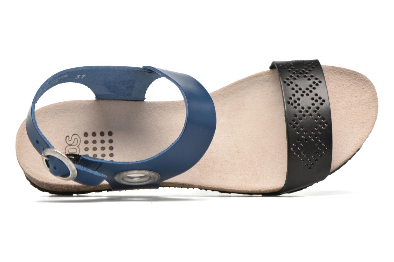 Sandalias TBS Isabel Azul vista lateral izquierda