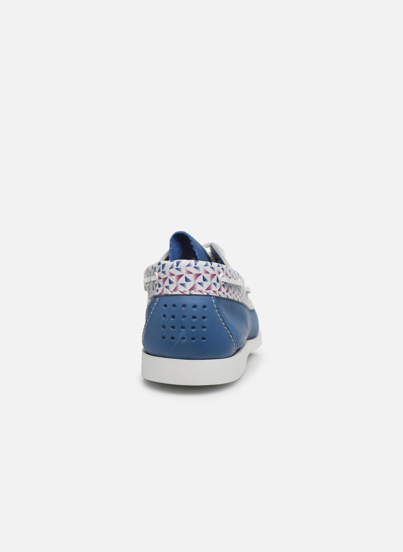 Zapatos con cordones TBS Pietra Azul vista lateral derecha