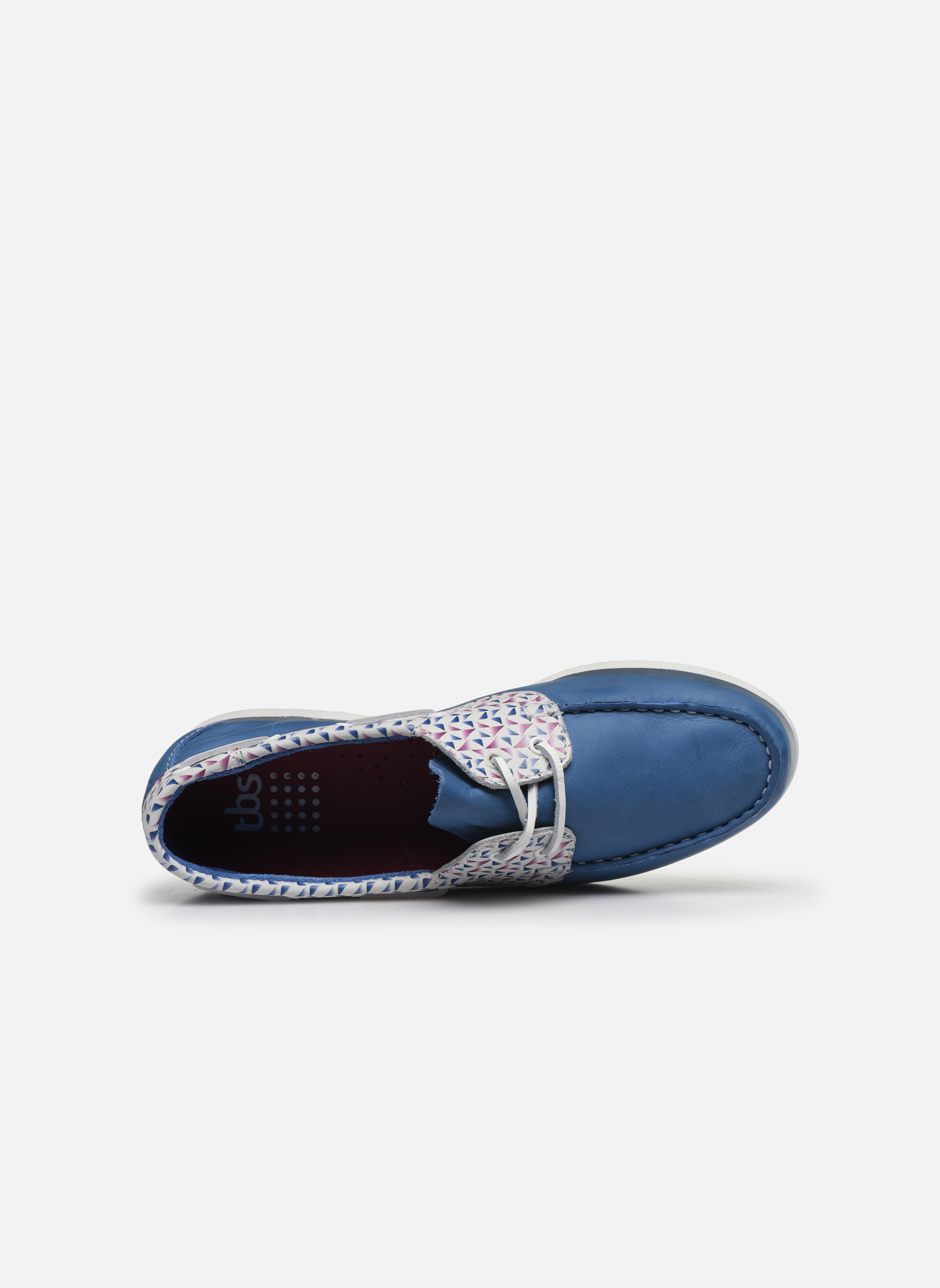 Zapatos con cordones TBS Pietra Azul vista lateral izquierda