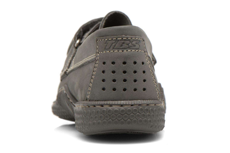 Chaussures à scratch TBS Galais Gris vue droite