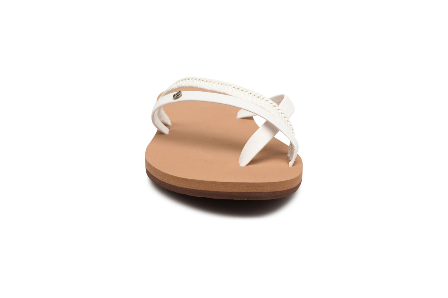 Tongs Reef O'Contrare LX Blanc vue portées chaussures