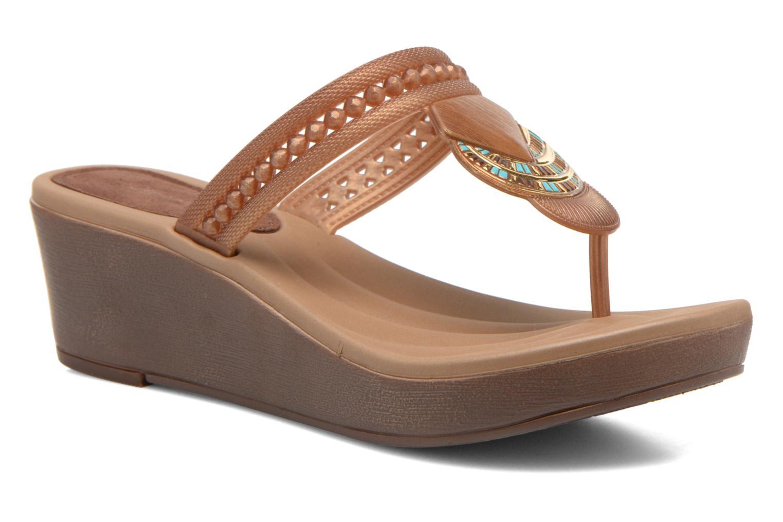 Los últimos zapatos de descuento para hombres y mujeres Grendha Tribal Plat Fem (Marrón) - Chanclas en Más cómodo