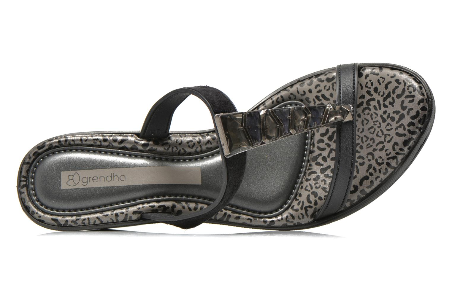 Mules & clogs Grendha Jewel Plat Black view from the left