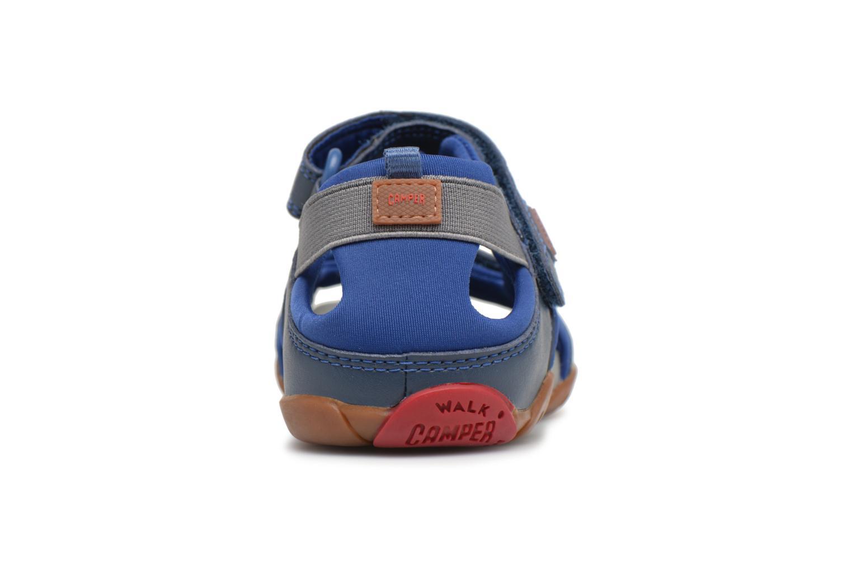 Sandalias Camper Ous E Azul vista lateral derecha