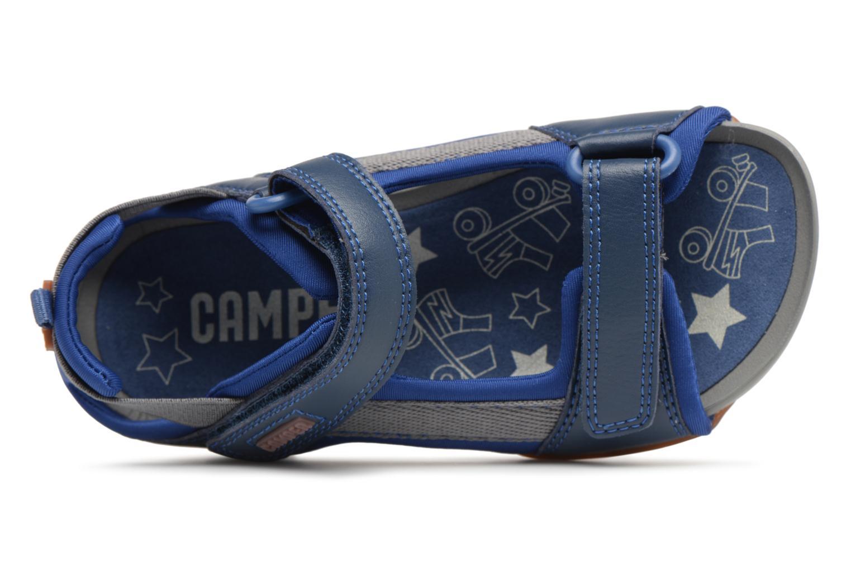 Sandalias Camper Ous E Azul vista lateral izquierda