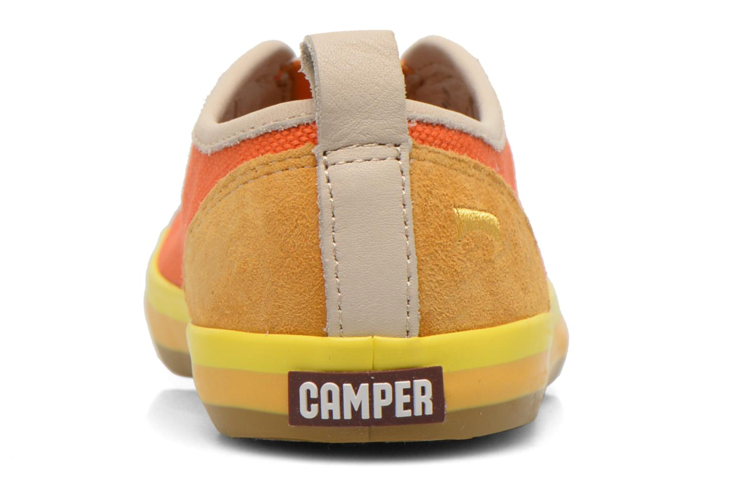 Baskets Camper Pelotas E Orange vue droite