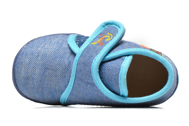 Pantuflas GBB Maverick Azul vista lateral izquierda