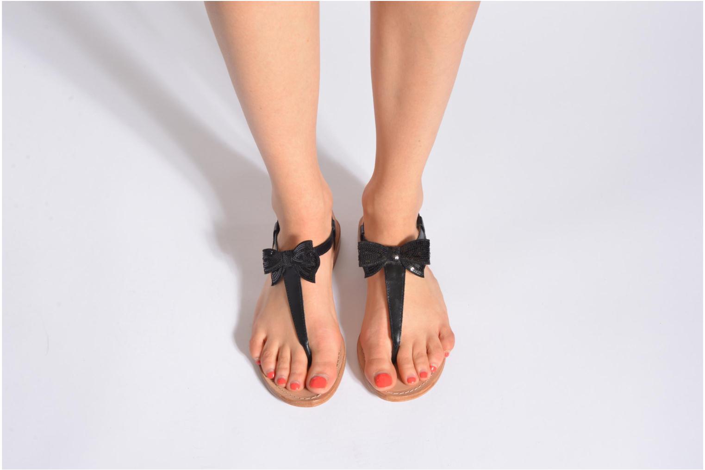 Sandales et nu-pieds Mellow Yellow Ballydolly Or et bronze vue bas / vue portée sac