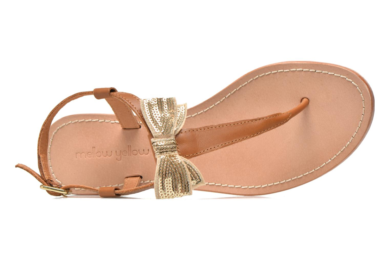 Sandales et nu-pieds Mellow Yellow Ballydolly Or et bronze vue gauche