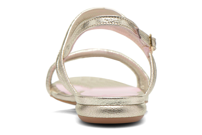 Sandales et nu-pieds Mellow Yellow Veo Or et bronze vue droite