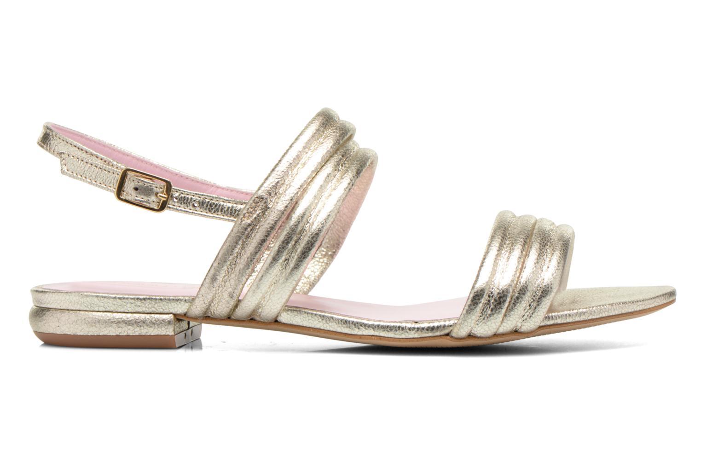 Sandales et nu-pieds Mellow Yellow Veo Or et bronze vue derrière
