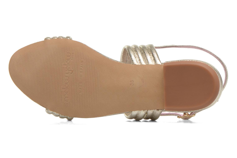 Sandales et nu-pieds Mellow Yellow Veo Or et bronze vue haut