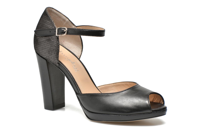 High heels Mellow Yellow Vimane Black detailed view/ Pair view