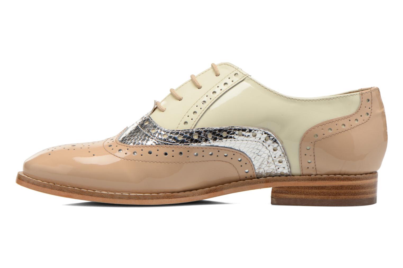 Chaussures à lacets COSMOPARIS Fadia/Ver Beige vue face