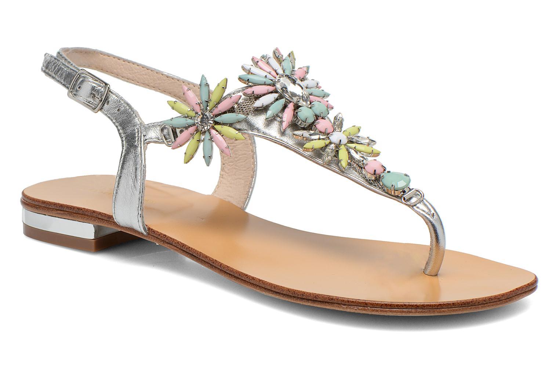 Sandals COSMOPARIS Hirly/Met Silver detailed view/ Pair view