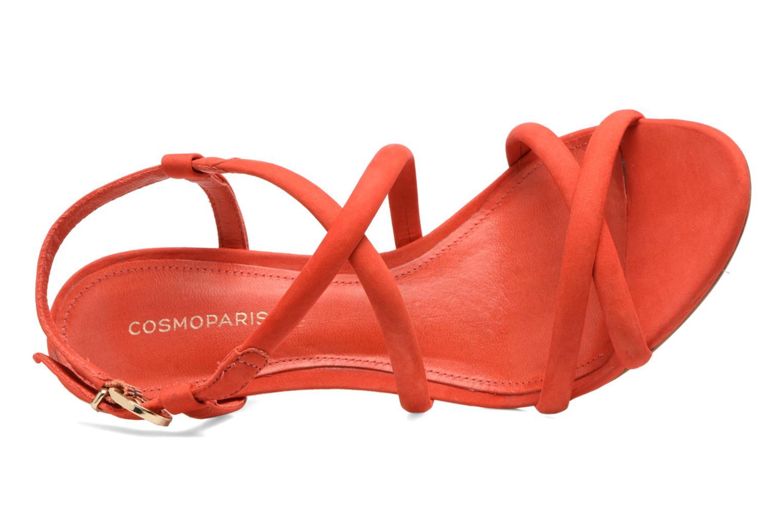 Sandalias COSMOPARIS Adalina/vel Rojo vista lateral izquierda