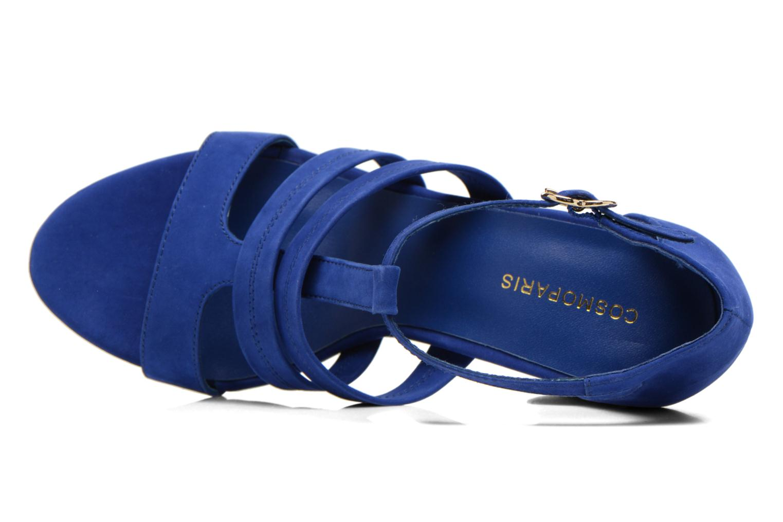 Sandals COSMOPARIS Simia/nub Blue view from the left