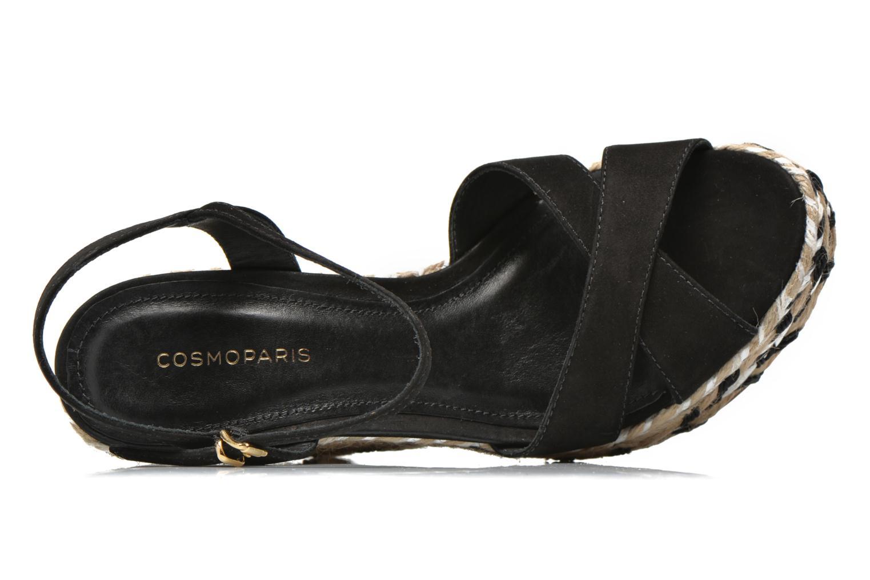 Sandalen COSMOPARIS Aedi schwarz ansicht von links