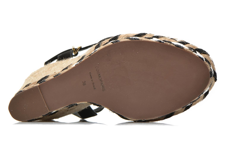 Sandalen COSMOPARIS Aedi schwarz ansicht von oben