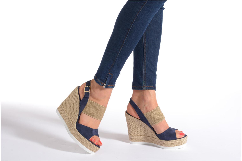 Sandals COSMOPARIS Casti Blue view from underneath / model view
