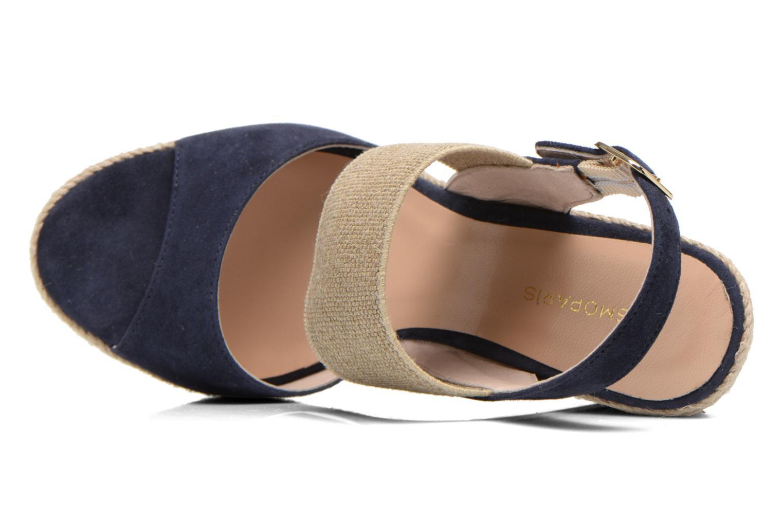 Sandalen COSMOPARIS Casti blau ansicht von links