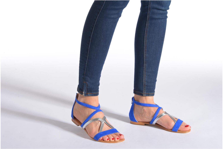 Sandalen COSMOPARIS Kilia/vel blau ansicht von unten / tasche getragen