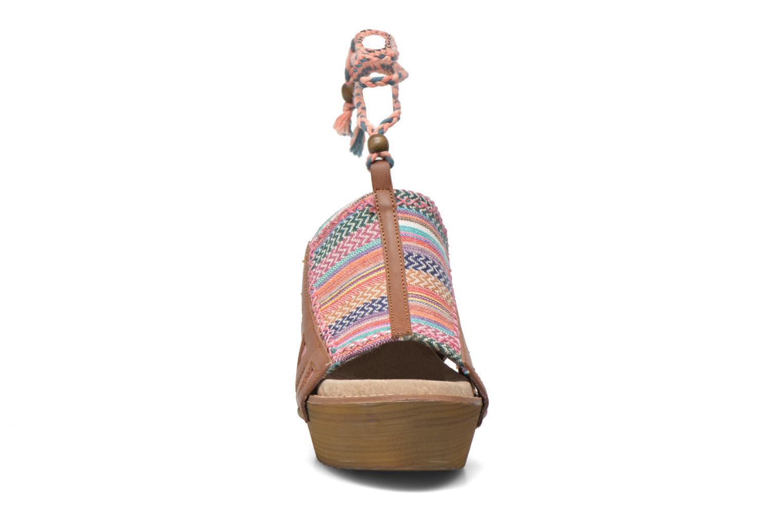 Mules et sabots Coolway Cinnamon Multicolore vue portées chaussures