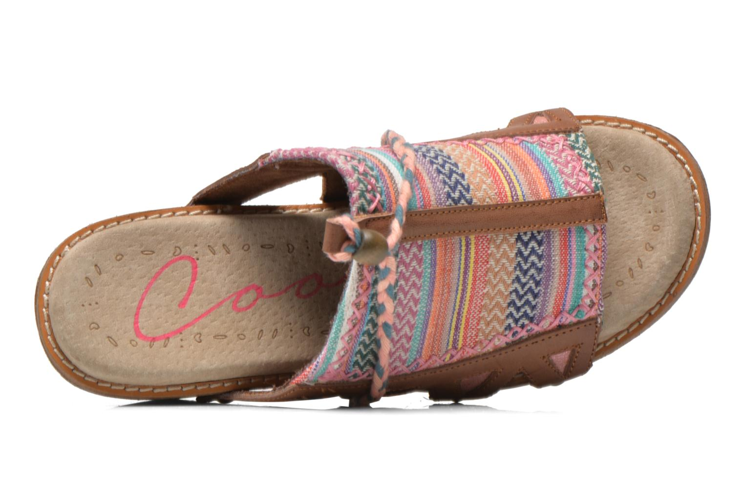 Mules & clogs Coolway Cinnamon Multicolor view from the left
