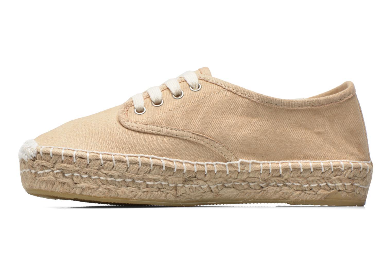 Chaussures à lacets Coolway Juttie Beige vue face