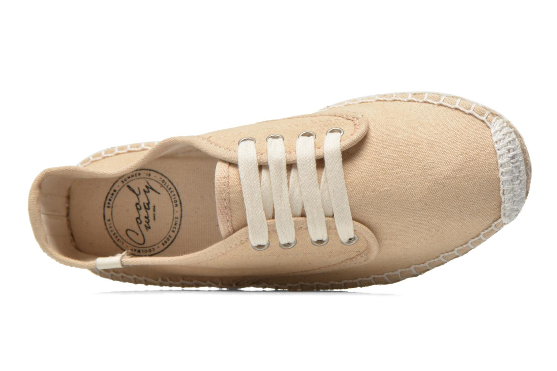 Chaussures à lacets Coolway Juttie Beige vue gauche