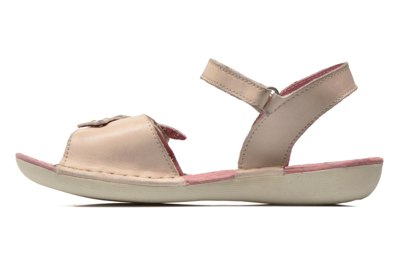 Sandales et nu-pieds Kickers Edana Beige vue face