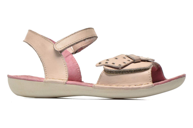 Sandales et nu-pieds Kickers Edana Beige vue derrière