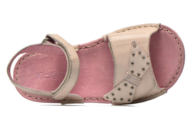 Sandales et nu-pieds Kickers Edana Beige vue gauche