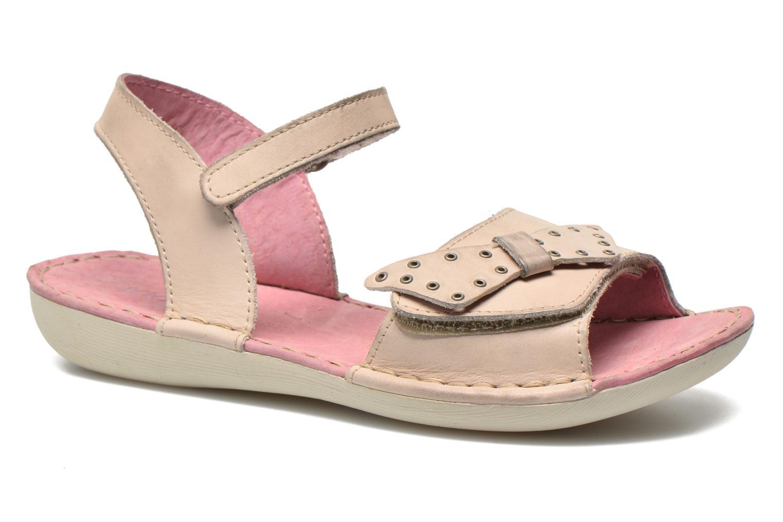 Sandales et nu-pieds Kickers Edana Beige vue détail/paire