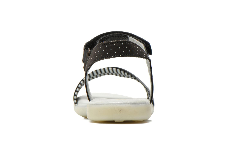 Sandales et nu-pieds Kickers Anyway Noir vue droite