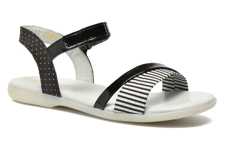 Sandales et nu-pieds Kickers Anyway Noir vue détail/paire