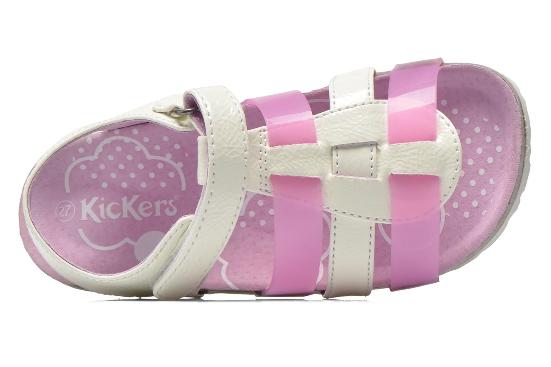 Sandales et nu-pieds Kickers Magidays Blanc vue gauche