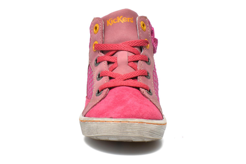 Baskets Kickers Lynx Rose vue portées chaussures