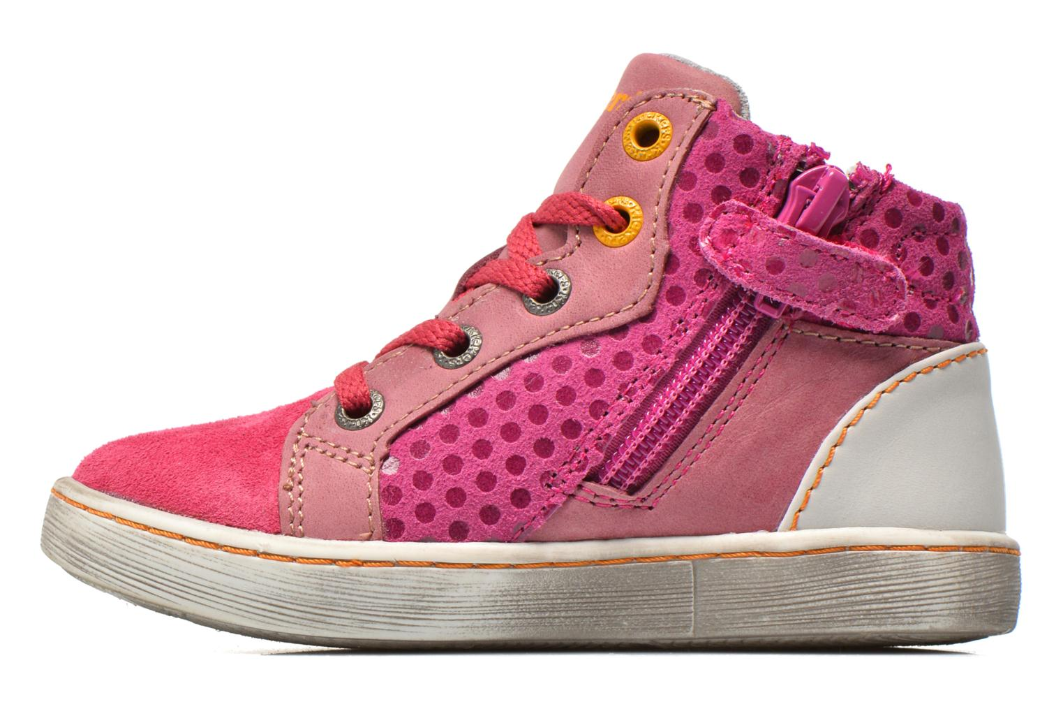 Sneakers Kickers Lynx Pink se forfra