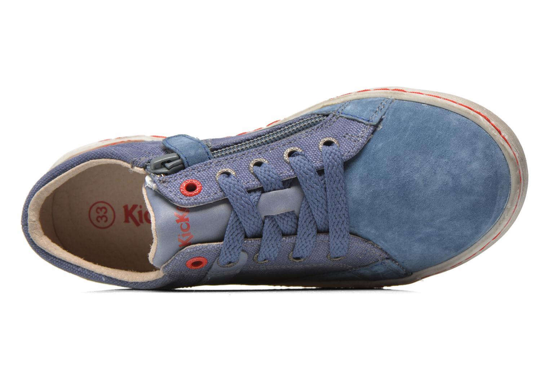 Sneakers Kickers Lylian Blå bild från vänster sidan