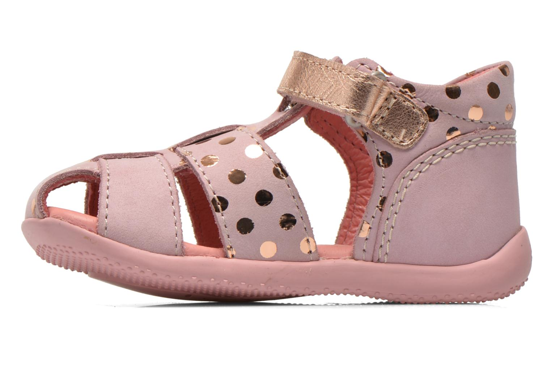 Sandaler Kickers Biggy Pink se forfra