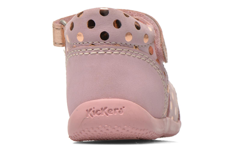 Sandaler Kickers Biggy Pink Se fra højre