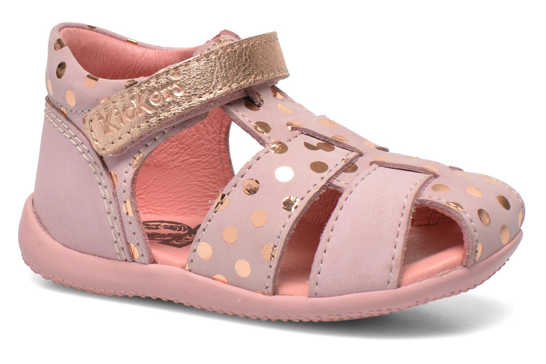Sandaler Kickers Biggy Pink detaljeret billede af skoene
